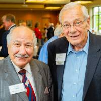 Glenn Niemeyer posing with Samir Ishak at the Retiree Reception.